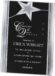 Black/Gold Standing Star Acrylic Recognition Plaque Achievement Awards
