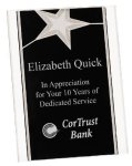 Silver Star Acrylic Stand Up Plaque Achievement Awards