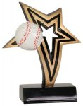 Baseball Infinity Star Resin Baseball Trophy Awards
