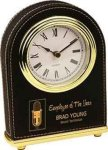 Black Leatherette Arch Desk Clock Boss Gift Awards