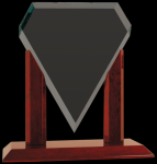 Royal Marquis Diamond Clear Glass Award Rosewood Glass Awards