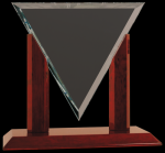 Diamond Triangle Clear Glass Award Sales Awards