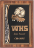 Soccer Walnut Finish Plaque  Recognition Plaques